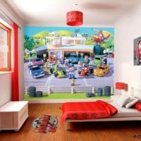 FOTOTAPETA 3D ROARY RACING CAR WALLTASTIC