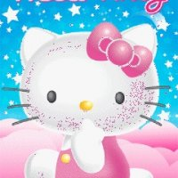 PLAGÁT HELLO KITTY LN0078 3D HOLOGRAM