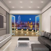 LONDON SKYLINE - WALLTASTIC®  3D FOTOTAPETA The View Collection (3596)