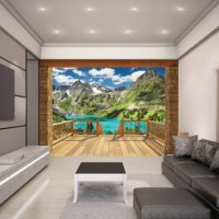 ALPINE MOUNTAIN - WALLTASTIC®  3D FOTOTAPETA The View Collection (3619)