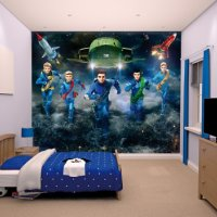 THUNDERBIRDS ARE GO - WALLTASTIC®  3D FOTOTAPETA (3732)