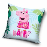 CARBOTEX Obliečka na vankúšik 40/40cm PEPPA PIG Happy